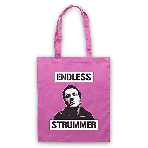 Inspiriert durch Joe Strummer Endless Strummer Inoffiziell Umhangetaschen Rosa