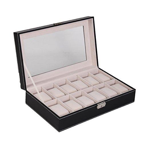 FDS Uhrenkoffer, Uhrebox, Armbanduhr Kasten, Uhrenschatulle Box, Schmuckkasten (12)