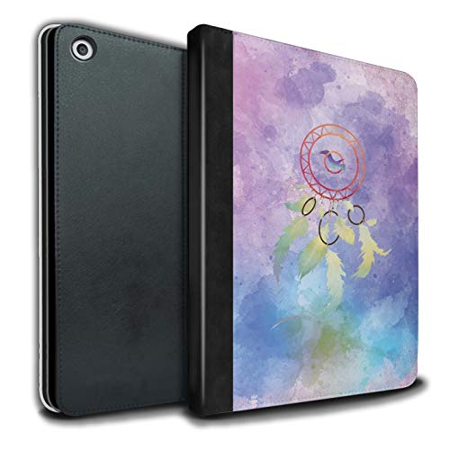 eSwish - Libreta de Piel sintética con Funda, IP-TSB, colección de Arte de atrapasueños Watercolour Ombre/Bird Apple iPad 9.7 2018/6th Gen