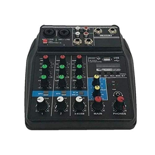 Luckiests Beruf Mischpult USB-Anschluss Mini Powered Bluetooth 4-Kanal-Stage Performance Live-Handlungs-Audio-Mixer (Audio-mixer-home)