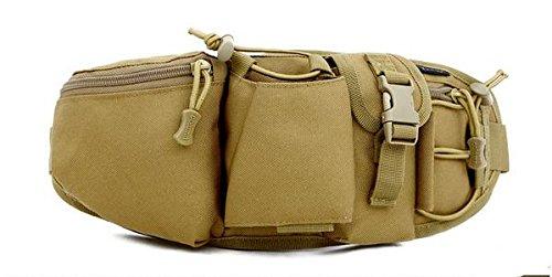 Zll/Outdoor Personal Taschen Running Herren und Frauen reiten mit Wasser Flasche Tasche Tactical Brust für Casual Reise Camo Handtaschen Khaki