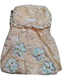 ICABLE High Quality Sleeveless Solid Baby Girls Princess Faux Fur Winter Shrug Jacket Coat Outerwear Thick Warm
