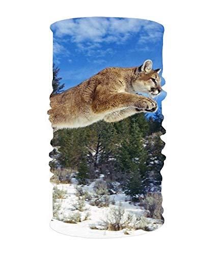 Wfispiy Outdoor Magic Headband Elastic Animal Cougar Cats Scarf UV Resistence Sport Headwear -