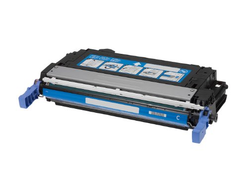 Rebuilt Toner für HP CB 401 A/Color Laserjet CP 4005 DN N, Cyan, 7.500 Seiten, ersetzt 642A -