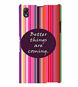 PrintVisa Quotes & Messages Strong Life 3D Hard Polycarbonate Designer Back Case Cover for Sony Xperia Z1