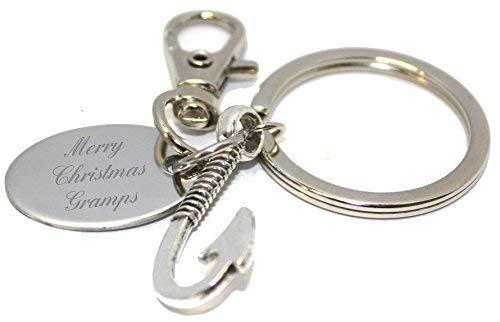 Frohe Weihnachten Opa Mundharmonika Schlüsselanhänger in Geschenk-Etui - AA72