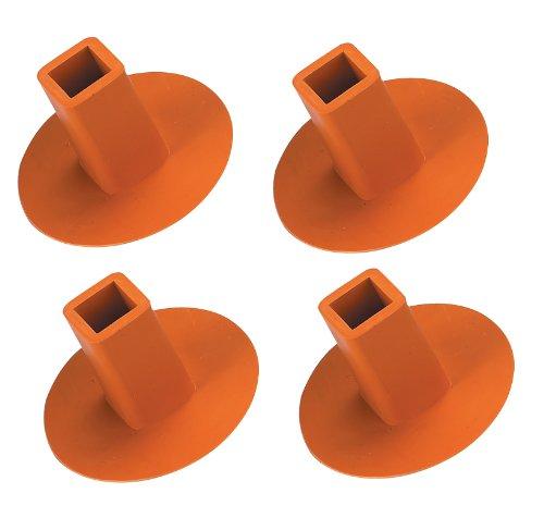 Markwort 4Pack Boden Köcher-Stecker (orange) -