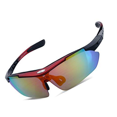 4485f852ba3 Duco Gafas de Sol Ciclismo Gafas de Sol al Aire Libre para Atletas  polarizados 5 Lentes