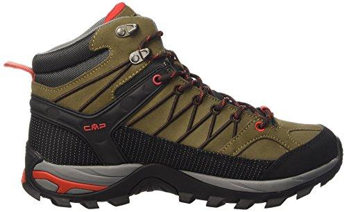 CMP Herren Rigel Mid WP Trekking-& Wanderstiefel, Grau Grün (Cactus F878)