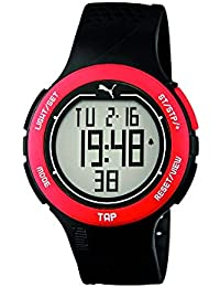 Puma Time Herren-Armbanduhr PU-Touch-black red Digital Quarz Kautschuk PU911211001