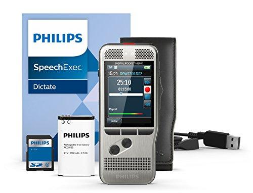 Philips DPM7200/01–Dictáfono digital (Incluye software de dictado SpeechExec 10, distancia per deslizante)