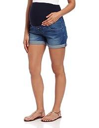 Ripe Maternity Women's Maternity Denim Shorty Shorts, Blue
