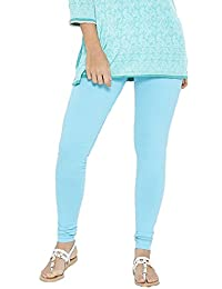 FashGlam Women Premium Churidar Cotton Legging - Sea Blue