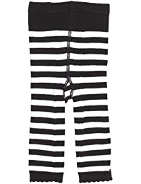 Sourpuss – Cortina rayas bebé Leggings Negro/Blanco