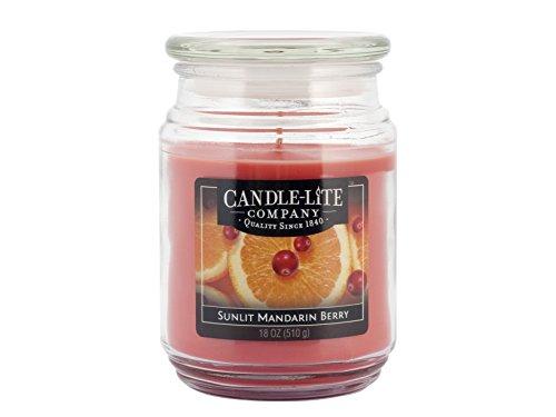 Scheda dettagliata Candle-Lite 6064 Candela Profumata Mandarino, Cera, Rosso, 10 x 10 x 15 cm