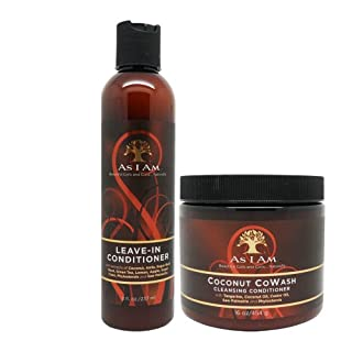 As I Am Leave-in Conditioner 8oz, Coconut Cowash Cleansing Conditioner 16oz