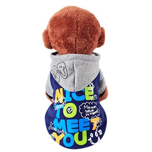 friendGG Hund Kleidung Adidog Hunde Warme Hoodies Mantel T-Shirt Kleidung Pullover Haustier Welpen Sportliches Design Kapuzenmantel-Mantel-Kleidung für Hund