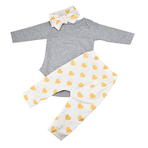 Baby Junge Kleidung Outfit, Honestyi 1 Satz Neugeborenes Baby Jungen Mädchen Deer Tops Strampler Hosen Hut 3 STÜCKE Outfits Kleidung (Weiß,70,80,90,100)