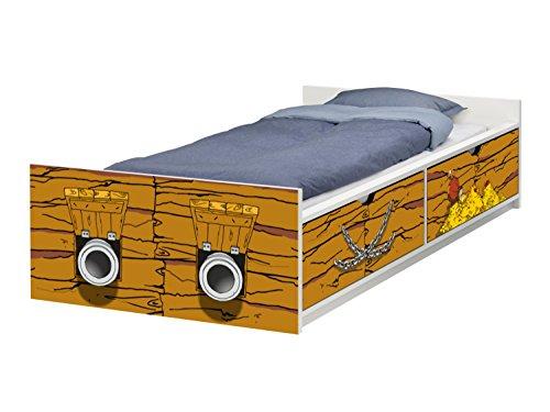 STIKKIPIX Piraten Schiff Möbelfolie   passend zum IKEA Kinderbett FLAXA   passgenaue Klebe-Folie für Schubkästen und Stirnseite   FLX09   Möbel Nicht Inklusive