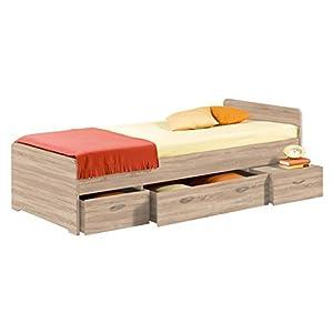 Stella Trading Boro Bett 90 x 200 cm, Eiche Sonoma