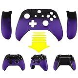 eXtremeRate® Xbox One S Schutzhülle Soft Touch Obere Case Hülle Cover Schale Gehäuse mit 2 Seitenteilen für Xbox One S Controller(Lila)