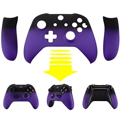 eXtremeRate® Xbox One S Schutzhülle Soft Touch Obere Case Hülle Cover Schale Gehäuse mit 2 Seitenteilen für Xbox One S Controller(Lila) Test