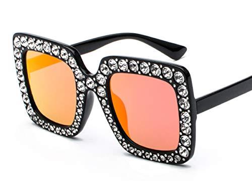Tclothing Frauen Dicke Sonnenbrille mit Rahmen Zirkon Rahmen Brillen Polfilter Fahrradbrille Damen 9-Fach-Beschichtet Getönte Gläser