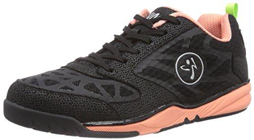 Zumba Footwear Zumba Energy Fuze, Damen Hallenschuhe, Schwarz (Black/Coral), 40.5 EU (6.5 Damen UK)