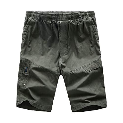 Herren Cargo Shorts,GreatestPAK Neu Sommer Lässig Patchwork Locker Groß Outdoor Sport Kurze Hose,Armeegrün,XXL