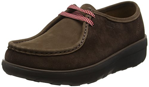 FitFlop Loaff Lace-Up Moc, Mocassins Femme Marron - Brown (Chocolate Brown)