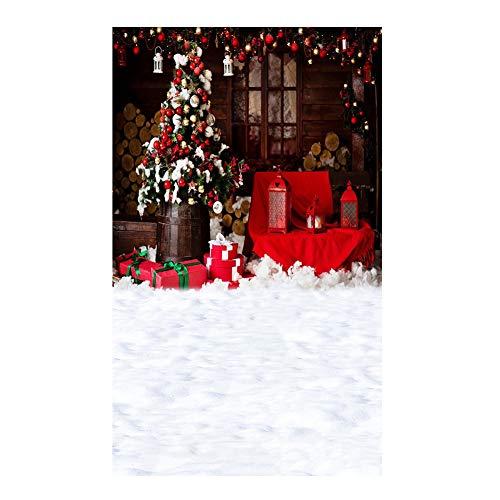 (Le yi Wang You San Bodhi® Hintergrund Weihnachtsbaum Realistische Kinder-Fotografie Foto Requisite (150 x 220 cm), Vinyl, 6)