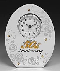 Idea Regalo - Shudehill Giftware Per ° anniversario di matrimonio specchio Mantel Clock
