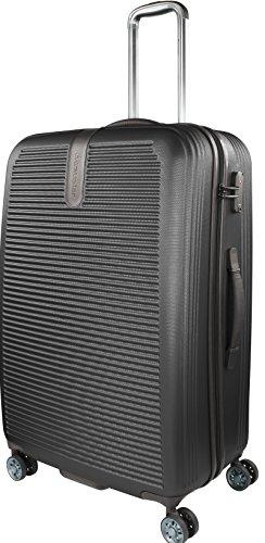 Traveller Rome Großer Hartschalen Koffer, 4 Rollen Reisekoffer für Damen und Herren mit TSA Schloss, 77x52x29 – 81L, Schwarz
