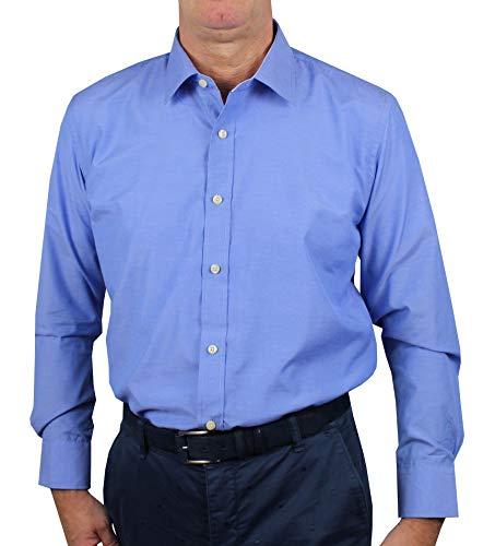 1stamerican camicia elegante da uomo in collo classico regular fit 100% cotone manica lunga - camicia classica tinto filo popeline no stiro in varie fantasie