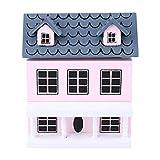 Zerodis 1:12 Miniatur Möbel Kinder Mini Puppen Zubehör Baby Holz Garten Cottage Spielzeug Rolle Spielen Spielzeug Set für Kinder Garten Zubehör Raumdekoration Geschenk für Kinder(Rosa)