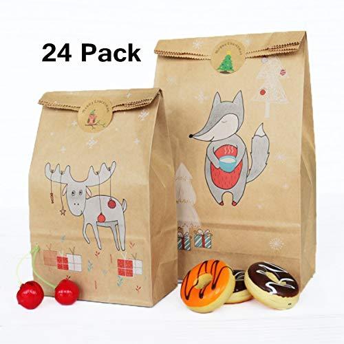 Hongyantech 24 sacchetti candy bar, sacchetti di carta candy candy, sacchetti di caramelle ideale per negozi di articoli da regalo, bomboniere, caramelle, vari festival ecc