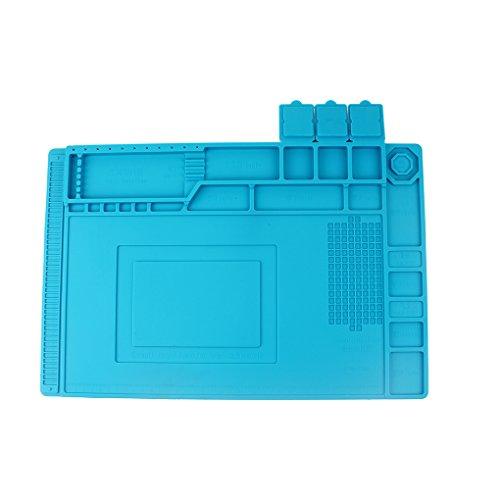 Pegcdu Magnetic W?rmeisolierung Silikon-Reparatur-Werkzeug-Pad Anti-Statik-Desk Mat Handy Wartungsplattform f¨¹r Laptop-Computer-Sport-Uhr-Kamera