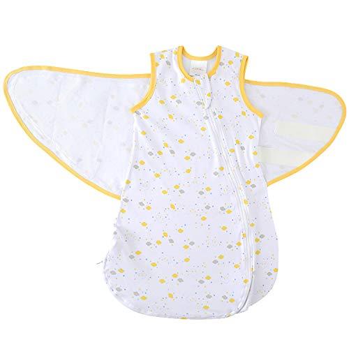 MKW Babies 100% Premium Baumwolle Swaddle Baby Schlafsack -Weiß, Unisex für Herbst/Winter. Bestes Produkt für einen langen Nachtschlaf, ausgezeichnetes Geschenk für 0-6 Monate (3-6 monate, 1 TOG)