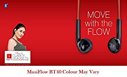 Iball MusiFlow BT40 Wireless BT Headset With Mic -Free Carry Case Bundled