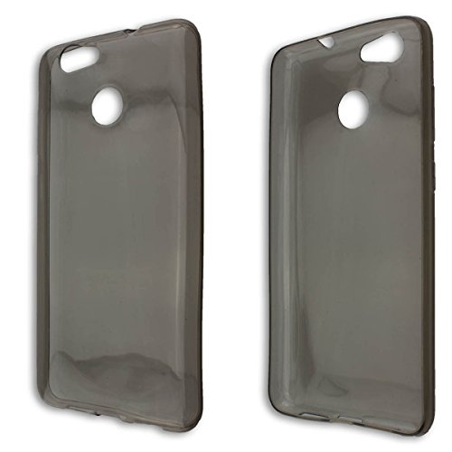 caseroxx TPU-Hülle für Blackview E7 / E7S, Tasche (TPU-Hülle in schwarz-transparent)