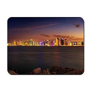 BGLKCS Doha - Qatar - World- #30888 Mauspads Customized Rectangle Non-Slip Rubber Mousepad Gaming Mauspads 8.6x7.1 Inches