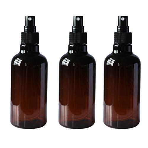 3 botellas de pulverizador de 250 ml vacías rellenables de plástico con pulverizador negro aspersor...