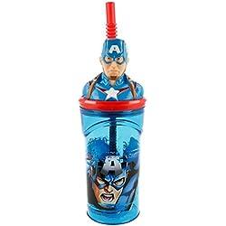 Boyz Toys ST393 3D Figurine Tumblers - Captain America, Blue