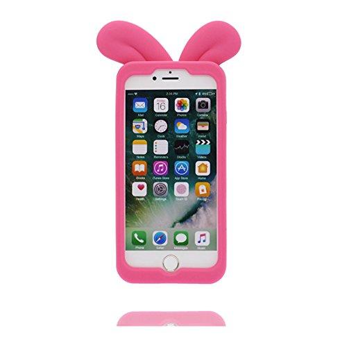 iPhone 7 Plus Custodia, TPU protezione Shell iPhone 7 Plus Copertura, iPhone 7 Plus Case Cartoon Tdurevole Cover - 3D Bottiglia bianca, Bottiglia di birra, Anti-Graffi Rosa