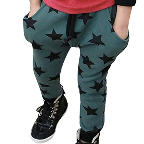 ROPALIA Baby Kids Toddler Cottom Harem Pants Star Pattern Stretch Trouser Bottom