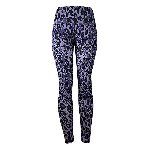 JUTOO Leggings à imprimé léopard pour Femmes Fitness Sports Gym Running Pantalon de Yoga