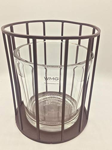 WMG | FINISTRA Windlicht Teelichthalter Tisch Deko mit Glas | Frühling Frühlingsdeko | Metall...