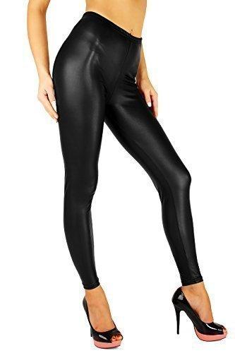 FUTUROFASHION® NEW Sexy MAT Wet Look Black Full Ankle Length Leggings All Sizes! **HQ**
