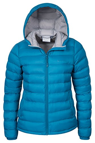 Mountain Warehouse Seasons Damen gefütterte jacke mantel Steppjacke mantel sportlich outdoor wandern warm Petrolblau