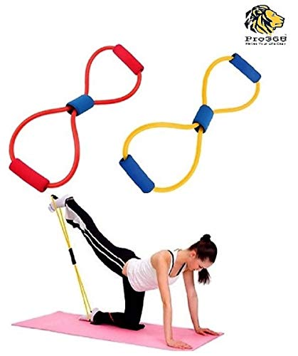 PRO365 Chest Expander Rope Indoor Outdoor Workout Fitness Exercise Tube,Sports,Yoga (Random Color)
